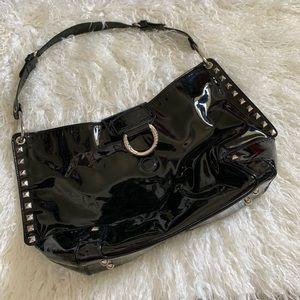 Stuart Weitzman black studded shoulder bag
